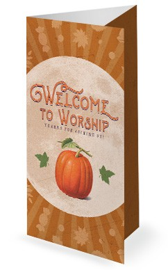 Fall Festival Pumpkin Church Trifold Bulletin