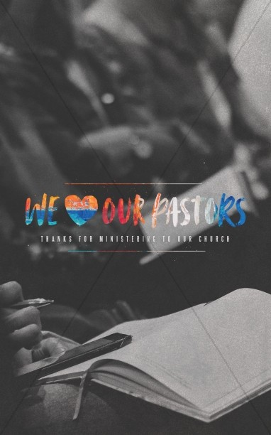 We Love Our Pastors Service Bulletin Cover