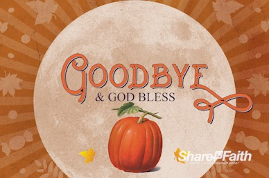 Fall Festival Pumpkin Church Goodbye Bumper Video