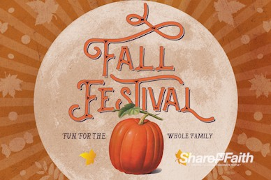 Fall Festival Pumpkin Church Service Bumper Video