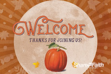 Fall Festival Pumpkin Church Welcome Bumper Video
