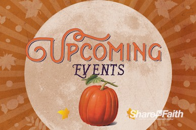 Fall Festival Pumpkin Church Announcements Bumper Video