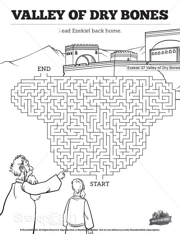 Ezekiel 37 Valley of Dry Bones Bible Mazes