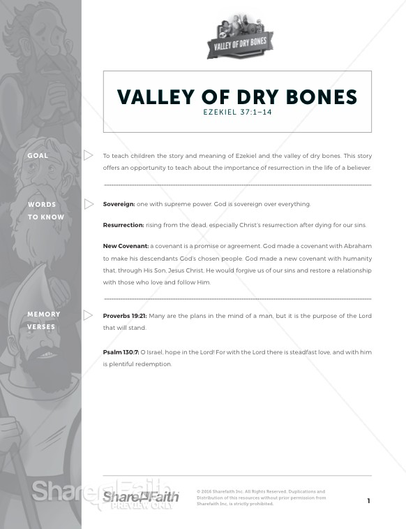 Ezekiel 37 Valley of Dry Bones Curriculum