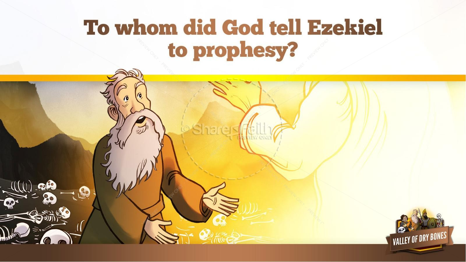 Ezekiel 37 Valley of Dry Bones Kids Bible Story | slide 19