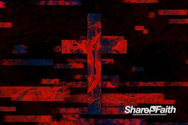 Moving Textures Red Ink Cross Motion Graphic