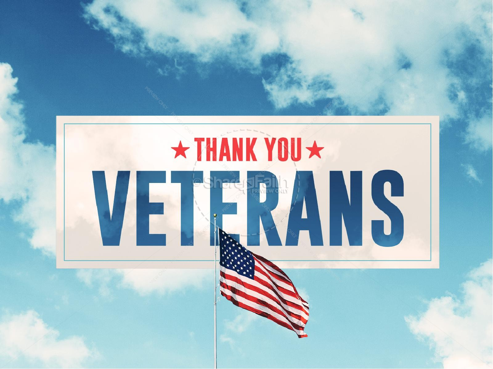 Veterans Day American Flag Graphic Powerpoint Sermons