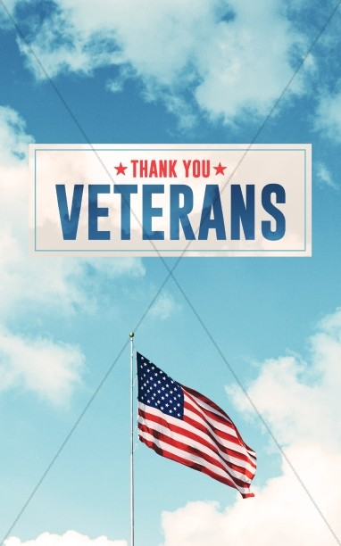 Veterans Day American Flag Bulletin