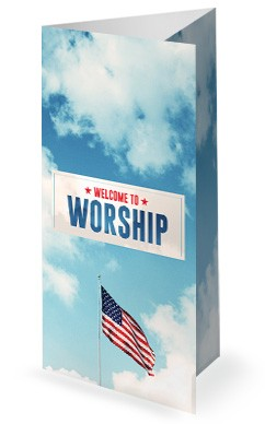Veterans Day American Flag Trifold Bulletin