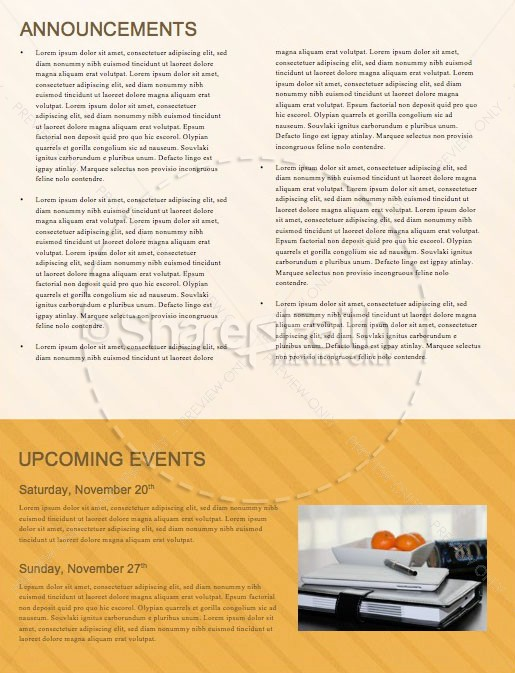 Fall Back Service Newsletter Template