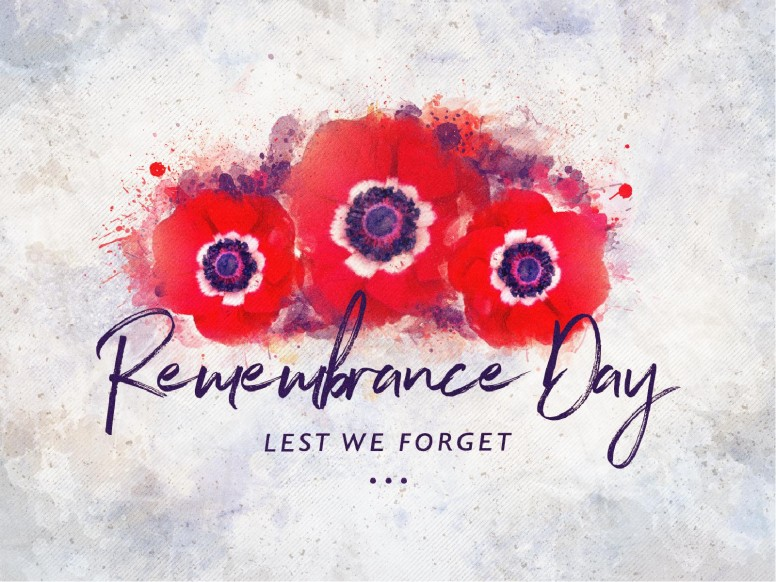 Remembrance Day Service Graphic