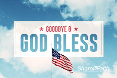 Veterans Day American Flag Goodbye Motion Graphic