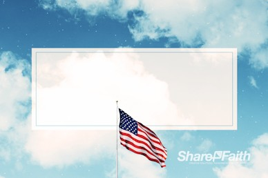 Veterans Day American Flag Motion Background