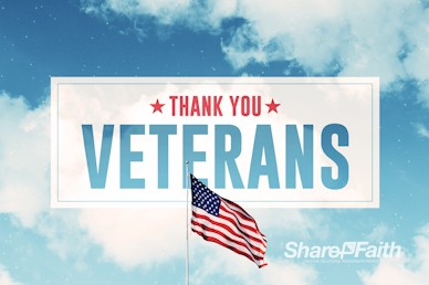Veterans Day American Flag Service Motion Graphic