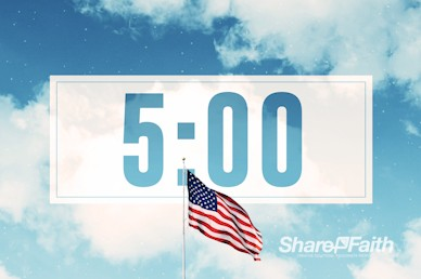 Veterans Day American Flag Countdown Video