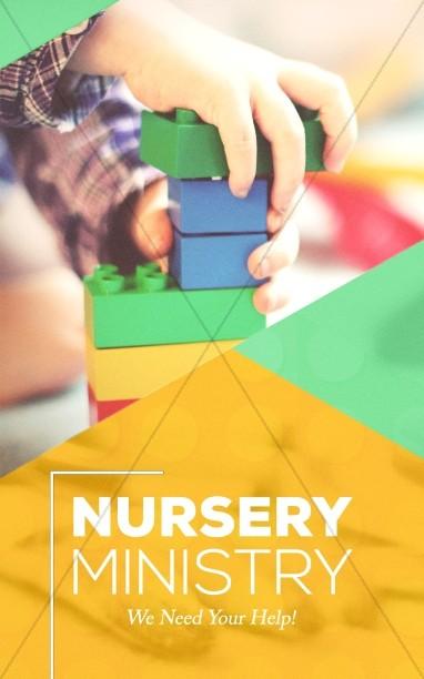 Church Nursery Bulletin Cover