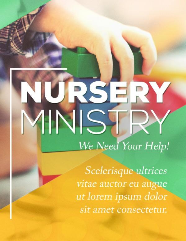 Church Nursery Flyer Template
