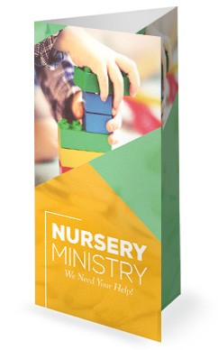 Church Nursery Trifold Bulletin Cover
