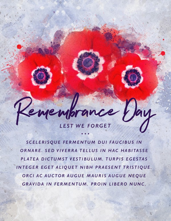 Remembrance Day Service Flyer