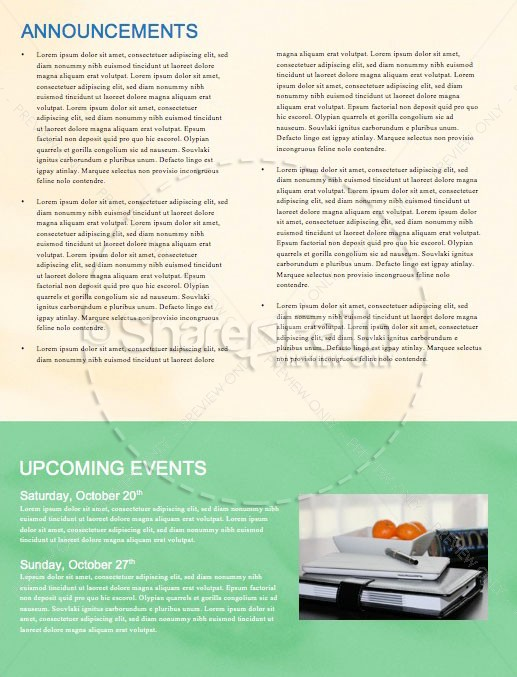 Church Nursery Newsletter Template | page 4