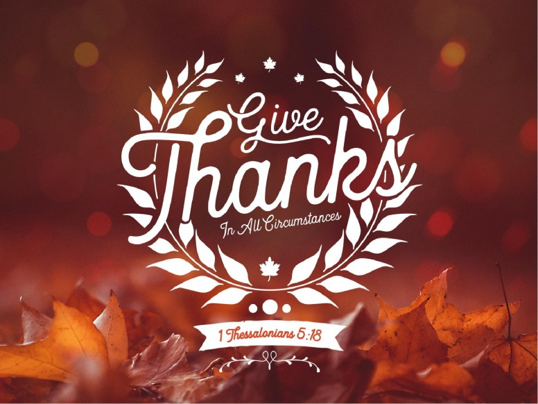Give Thanks In All Circumstances Graphic Design