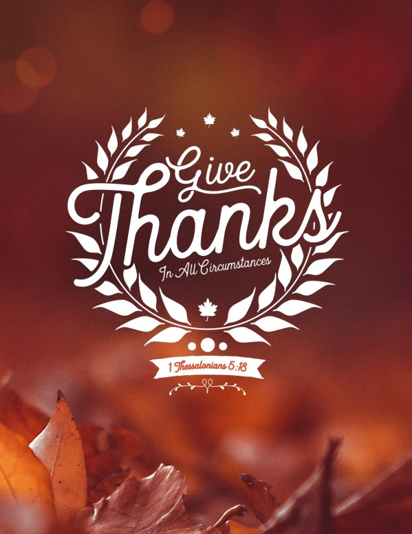Give Thanks In All Circumstances Church Flyer