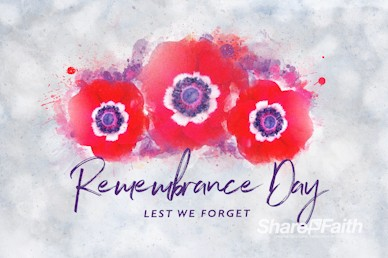 Remembrance Day Service Bumper Video