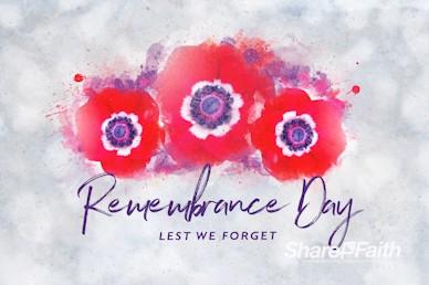 Remembrance Day Service Bumper Video