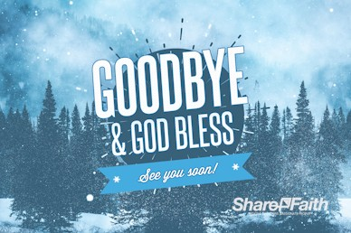 Winter Retreat Snowy Goodbye Video Loop