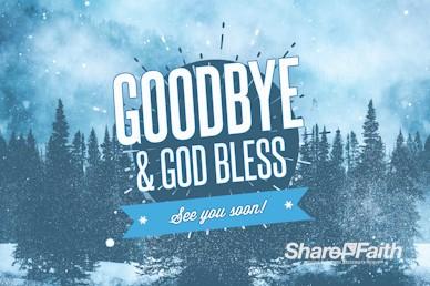 Winter Retreat Snowy Goodbye Video Loop