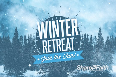 Winter Retreat Snowy Service Video Loop