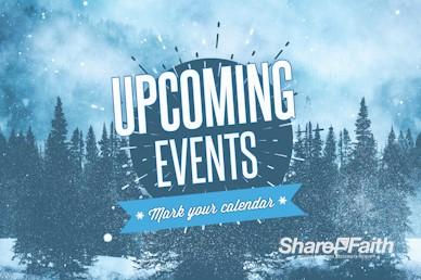 Winter Retreat Snowy Announcements Video Loop