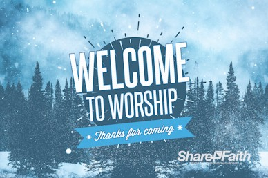 Winter Retreat Snowy Welcome Video Loop
