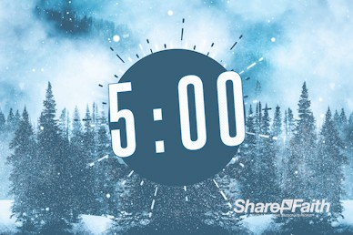 Winter Retreat Snowy Countdown Video
