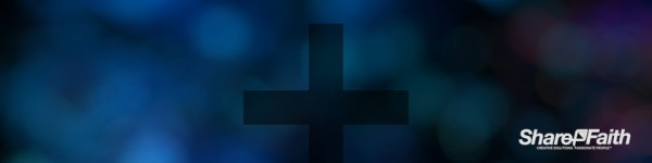 Blue Cross Bokeh Triple Wide Motion Background