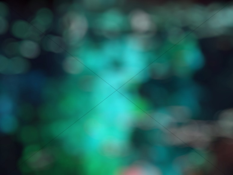 Vibrant Green Bokeh Worship Background