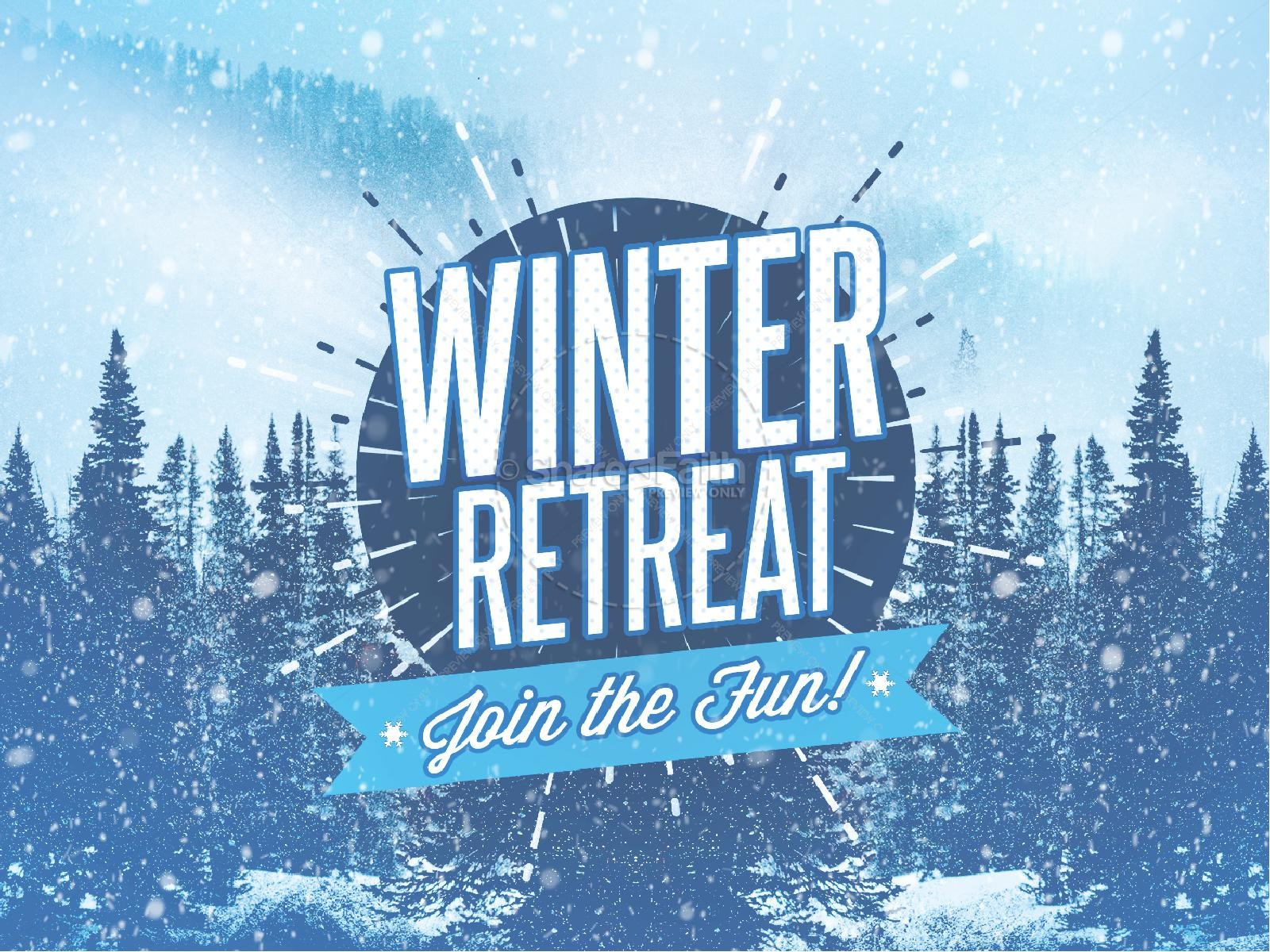 Winter Retreat Snowy Church PowerPoint