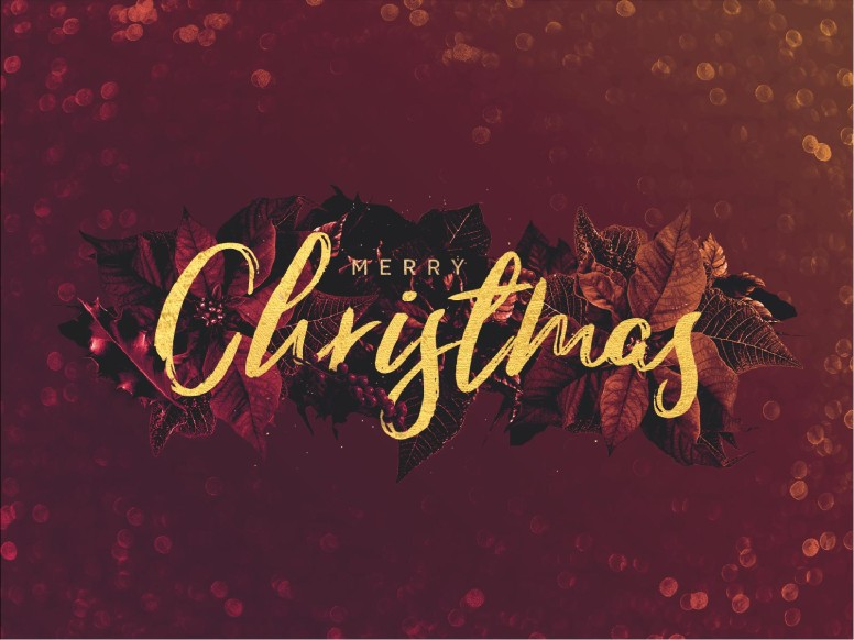 Merry Christmas Holly Service Graphic