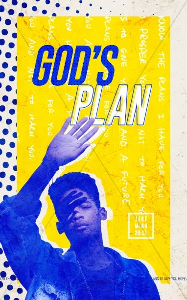 God's Plan Church Bulletin Cover