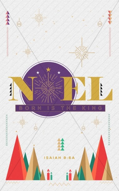 The First Noel Christmas Church Bulletin Cover