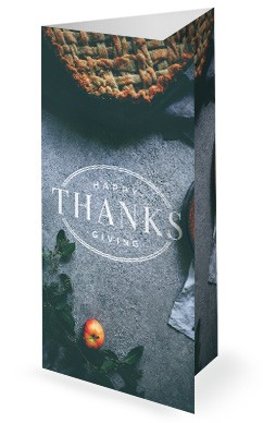 Thanksgiving Dinner Church Trifold Bulletin