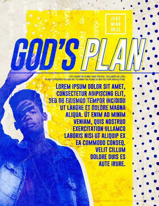 God's Plan Church Flyer Template