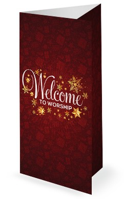 Merry Christmas Service Trifold Bulletin Cover