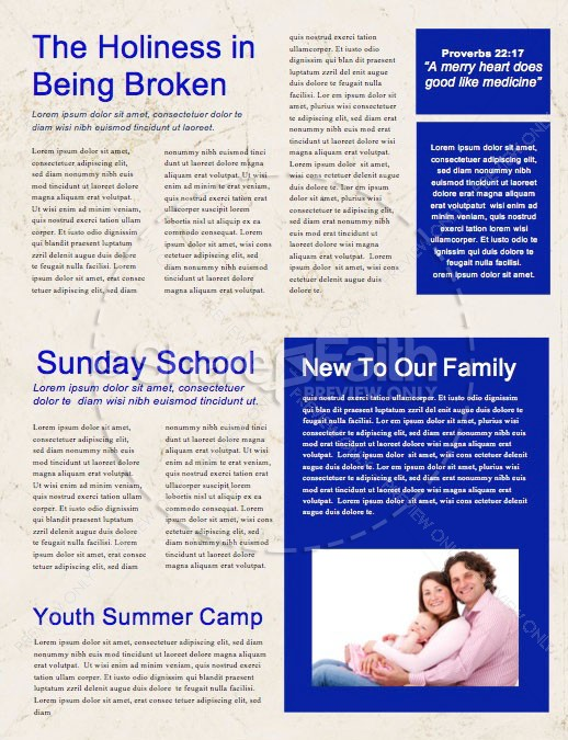 God's Plan Church Newsletter Template