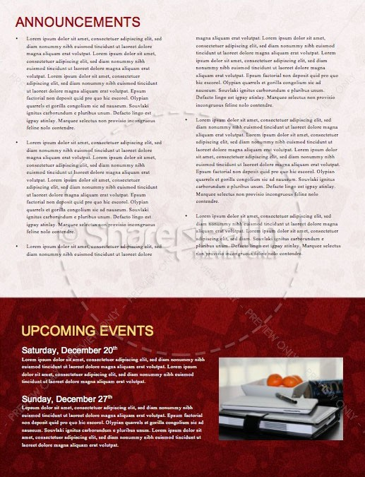 Merry Christmas Service Newsletter Template