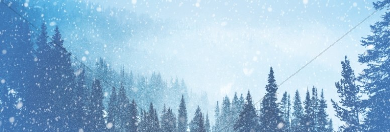 Winter Retreat Snowy Church Website Banner