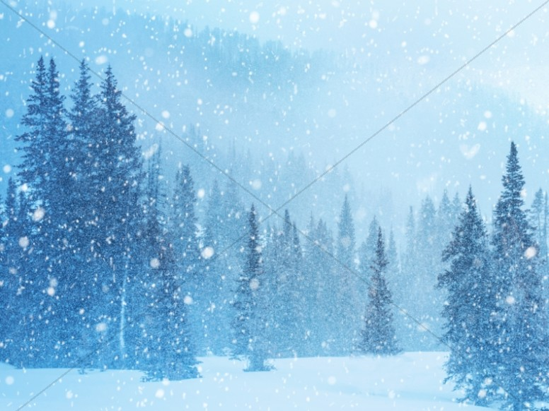 Winter Retreat Snowy Church Worship Background