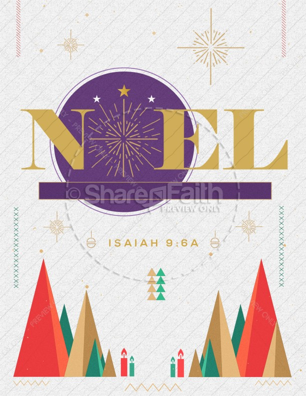The First Noel Christmas Church Flyer | page 1