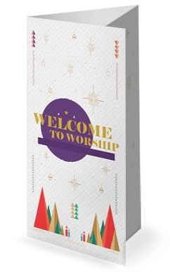 The First Noel Christmas Church Trifold Bulletin Cover
