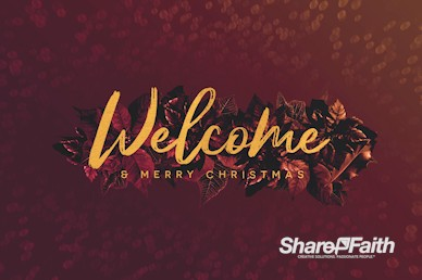 Merry Christmas Holly Welcome Motion Graphic